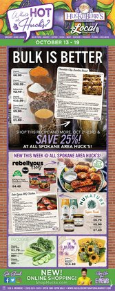 Huckleberry's Natural Market deals in the Huckleberry's Natural Market catalog ( 2 days left)