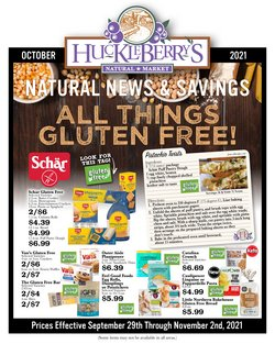 Huckleberry's Natural Market deals in the Huckleberry's Natural Market catalog ( 16 days left)