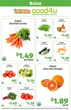 Natural Grocers deals in the Tucson AZ weekly ad