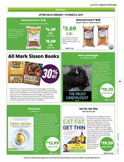 Models deals in the Natural Grocers weekly ad in Abilene TX