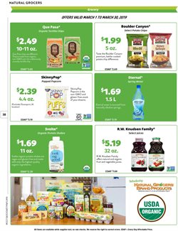 Popcorn deals in the Natural Grocers weekly ad in San Antonio TX