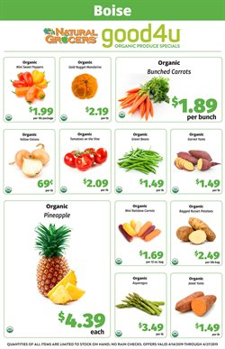 Natural Grocers deals in the Spokane WA weekly ad