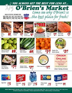 Obriens Market catalogue ( Expired )