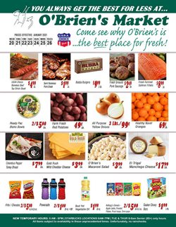 Obriens Market catalogue ( Published today )