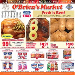 Obriens Market deals in the Modesto CA weekly ad