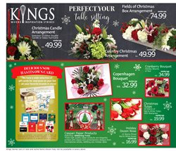 Flower deals in the Kings Food Markets weekly ad in New York