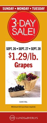 Grocery & Drug deals in the Lunds & Byerlys catalog ( Expires tomorrow)
