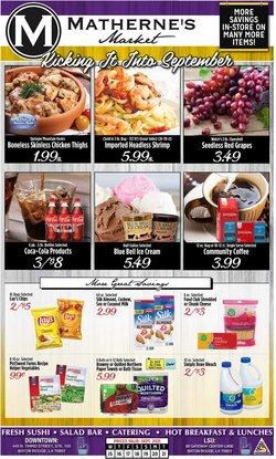 Grocery & Drug deals in the Matherne's catalog ( 2 days left)