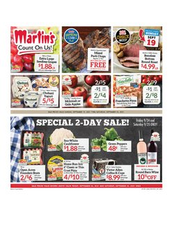 flower deals in the Martin's Super Markets catalog ( Expires tomorrow)