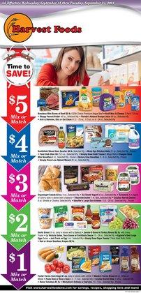 Harvest Foods deals in the Harvest Foods catalog ( 3 days left)