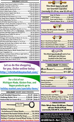 Grocery & Drug offers in the Holiday Market catalogue in Detroit MI ( Expires tomorrow )