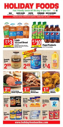 Holiday Foods catalogue ( Expired )
