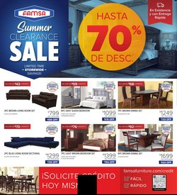 Home & Furniture deals in the Famsa catalog ( 26 days left)