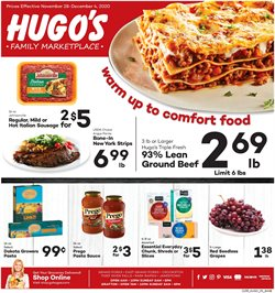 Hugo's Supermarkets catalogue ( Expires today )