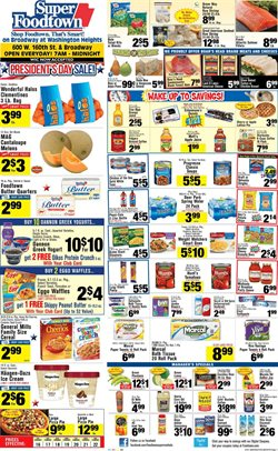 Tissues deals in the Foodtown supermarkets weekly ad in New York