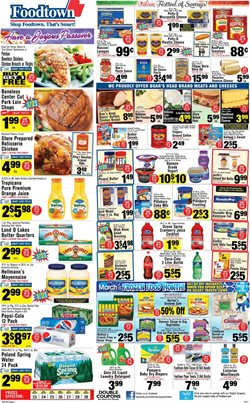 Detergent deals in the Foodtown supermarkets weekly ad in New York