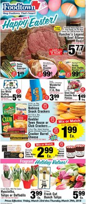 Covers deals in the Foodtown supermarkets weekly ad in New York
