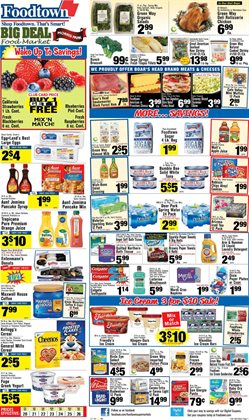 Tropicana deals in the Foodtown supermarkets weekly ad in New York