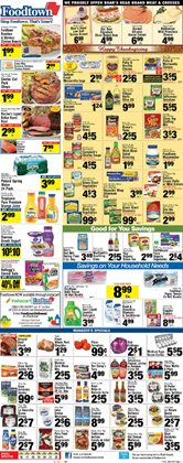 Tours deals in the Foodtown supermarkets weekly ad in New York