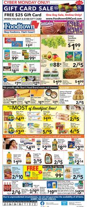 Cyber Monday deals in the Foodtown supermarkets catalog ( 4 days left)