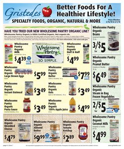 Spices deals in the Gristedes weekly ad in New York