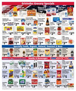 Cheerios deals in the Gristedes weekly ad in New York