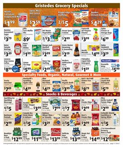 Popcorn deals in the Gristedes weekly ad in New York