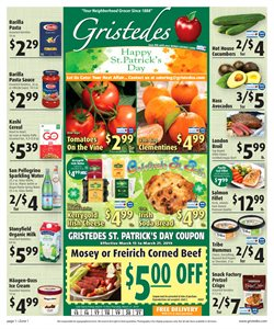 Chocolate deals in the Gristedes weekly ad in New York