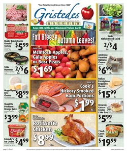 Cheese deals in the Gristedes weekly ad in New York