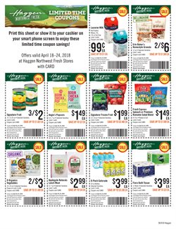 Prints deals in the Top Food & Drug weekly ad in Federal Way WA