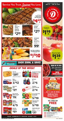 Grocery & Drug deals in the David's Supermarkets weekly ad in Coralville IA