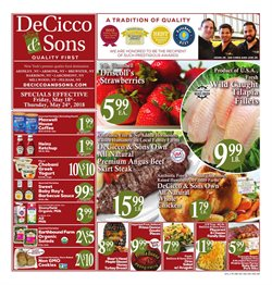 Tray deals in the DeCicco & Sons weekly ad in New York