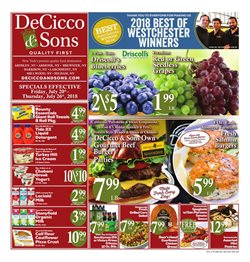 Tours deals in the DeCicco & Sons weekly ad in New York