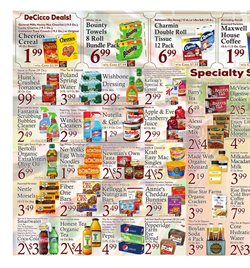 Cheerios deals in the DeCicco & Sons weekly ad in New York