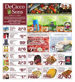 Grocery & Drug offers in the DeCicco & Sons catalogue ( Expires tomorrow )