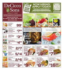DeCicco & Sons deals in the DeCicco & Sons catalog ( Published today)