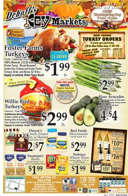 Dehoff's Key Markets deals in the Redwood City CA weekly ad