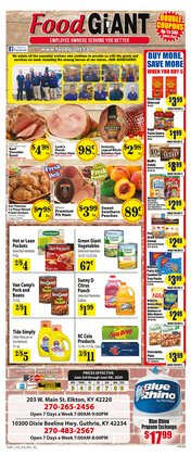 Grocery & Drug offers in the Food Giant catalogue in Clarksville TN ( 2 days ago )