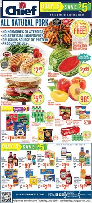 Grocery & Drug deals in the Chief Supermarket catalog ( 3 days left)