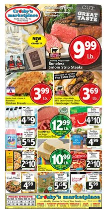 Crosby's Marketplace deals in the Salem MA weekly ad