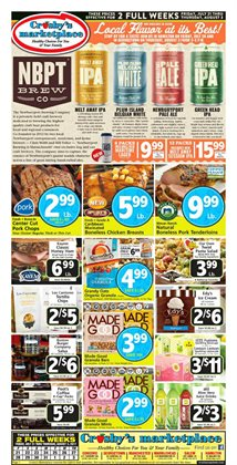 Crosby's Marketplace deals in the Boston MA weekly ad