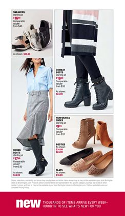 Sandals deals in the Burlington Coat Factory weekly ad in Springfield MO