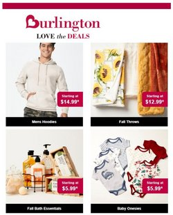 Clothing & Apparel deals in the Burlington Coat Factory catalog ( Expires today)