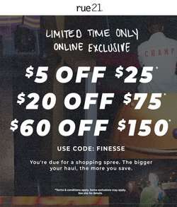 Rue21 deals in the Rue21 catalog ( 5 days left)