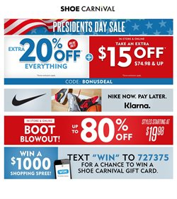 Shoe Carnival catalogue in Sugar Land TX ( Expires today )