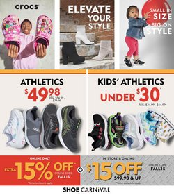 Clothing & Apparel deals in the Shoe Carnival catalog ( Published today)