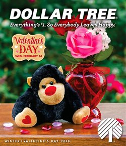 Valentine's Day deals in the Dollar Tree weekly ad in Fontana CA