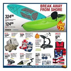 Kayak deals in the Cabela's weekly ad in Charleston WV