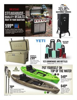 Kayak deals in the Cabela's weekly ad in Kansas City MO