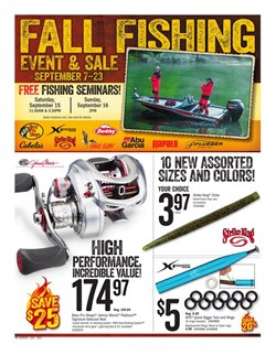 Fishing deals in the Cabela's weekly ad in Arvada CO